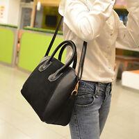 Ladies Hobo Shoulder Bag Faux Leather Satchel Cross Body Tote Women-Handbag ss