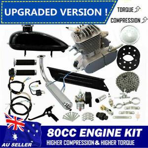 【Upgraded !】80cc Motorised Bicycle Push Bike 2 Stroke Motor Engine Kit Petrol