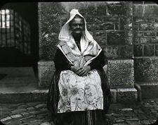 BRETAGNE c. 1900 - Bretonne - Positif Verre 10 x 8 - 161