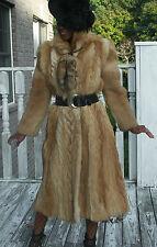Unique Designer Full length gold brown Coyote goat fur Coat Jacket stroller S2-8