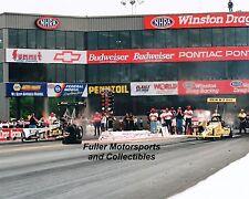 EDDIE HILL vs JIM HEAD 1997 NHRA TOP FUEL DRAGSTER 8X10 PHOTO PENNZOIL
