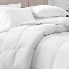 Willow Highlands WHITE 55 oz QUEEN SIZE DOWN/FEATHER COMFORTER-300 T/C