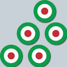 5 pegatinas 4cm sticker decal italia Italy target mod Scooter Vespa Scooter casco