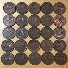Vintage Canada Small Cents, lot of 50 (Lot 5)