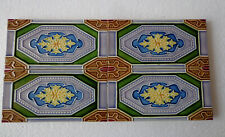 Old  Vintage Collectible rare ceramic tiles made in japan size 6 x 3 inch 1940s