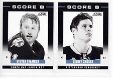 2011-12 PANINI SCORE SIDNEY CROSBY SCORE B #10 Insert Penguins
