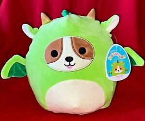 """NEW Squishmallow Reginald Corgi Dog Dragon 8"""" Kellytoy 2021 NWT Soft Cute Cuddly"""