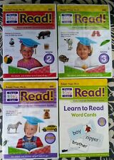 4 LOT * YOUR BABY CAN READ * ROBERT TITZER * 3 NEW DVDS + 1 PK WORD CARDS P/O