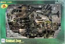 Combat Zone Play Series 1:32 Military Helicopter Jet Figures 48 Pieces New- Ray