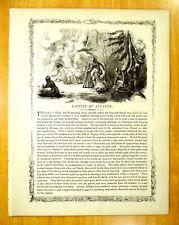 CAPTURE OF ANNAWON 1676 Pocasset Tribe Capt. Church King Philip's War 1856 Print