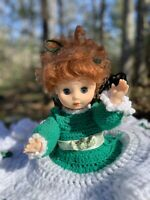 Vintage ~ Granny Chic Farmhouse Shabby Chic Doll with Hand-Crocheted Dress