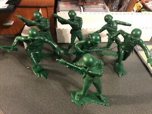 Army Men: 1960's Marx Large Toy Soldiers Lot of 7, 5-6 + Inch Tall Figures