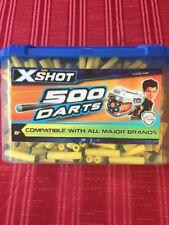 ZURU X-SHOTS 500 SOFT DARTS NERF COMPATIBLE DART GUN BLASTER YELLOW REFILLS TUB