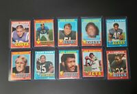 1971 TOPPS FOOTBALL COMPLETE SET WITH OVER 50+ HOF'er Bradshaw Greene Rookies RC
