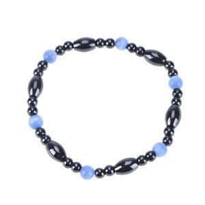 magnetic black stone cat eye beaded health care weight loss bracelet VG