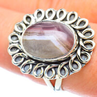 Botswana Agate 925 Sterling Silver Ring Size 8.75 Ana Co Jewelry R56396F