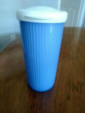 Tupperware Insulated Tumbler Blue 24 Oz. With Dripless Seal