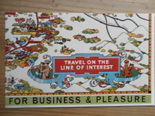 POSTCARD CHESHIRE LINES RAILWAY TRAVEL ON THE LINE OF INTEREST FOR BUSINESS AND