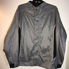 Dryjoys by FootJoy Gray Black Zip Up Golf Jacket Rain Wind Resistant Men's XL