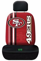 NFL San Francisco 49ers Printed Logo Car Seat Cover Offically Licensed