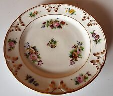 Meissen Floral design with embossed gold edging