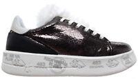 PREMIATA Scarpe Donna Sneakers Belle 3430 Pelle Bronzo Nuove