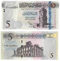 UNC LIBYA 5 Dinars (2015) P-81