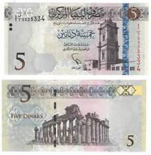 Libya 5 Dinars (2015) P-81 Unc Banknote