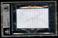 Sidney Toler signed autograph auto 2.5x4 cut Actor: Charlie Chan BAS Slabbed