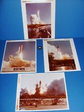 NASA 41-D LAUNCH SHUTTLE DISCOVERY (4) SERIAL # SEQUENCE PHOTOS 1984 ORIG.