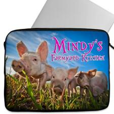 Personalised Laptop Cover PIGS Sleeve Cute Piglets Universal Case Gift KS75