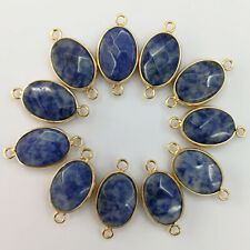 12pcs natural sodalite stone pendant Charms for Bracelet Necklace Connector