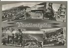 160416 IMPERIA VENTIMIGLIA - SALUTI da.. VEDUTINE Cartolina FOTOG viaggiata 1953