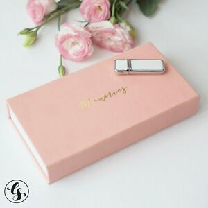 USB Flash Drive Thumb in Box Personalized Custom Logo Wedding for Photographer