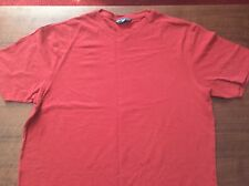 Men's Cherry Red Cotton T-Shirt, From Marks & Spencer,  Size: L