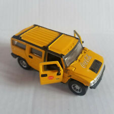 COCA COLA Yellow Hummer H2 SUV Die Cast - 1/46 - Pull Back Action, Doors Open