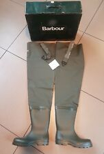 Barbour Full Safety PVC Thigh Wader Green Waders Waterproof Fishing boots VTG