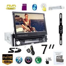 "7""Single Din Car CD DVD Player In Dash Stereo LCD Touch Screen Bluetooth GPS"