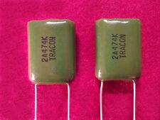 Tracon Polyester Film Capacitors .47uf/microfarad, 100v/volt Radial (Quantity 1)