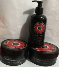 THE Body Shop Smoky Poppy Corpo Burro 200 ML + SCRUB CORPO 200 ml + Corpo Lozione 250 ML
