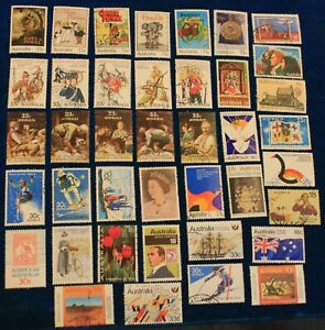 Australia 40 diff used stamps ** no definitives**