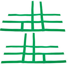 YFZ 450 450R 450X Nerf Bar Nets Fit Alba Tusk Sixity with heel guards Green  J