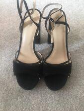 Ladies Michael Kors Gems Block High heel Sandals Black Suede Size Uk 9 US 11