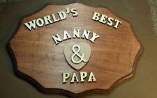 Fabulous Anniversary Personalized Gift for Dad/Mom/Grandma/Grandpa Sign Wood
