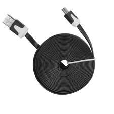 3 Meter Micro USB Ladekabel Datenkabel Flach Lang für Sony Ericsson Motorola LG