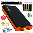 3000000mAh Backup External Battery 4 USB Power Bank Pack Charger for Cell Phone