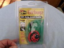EARBUGZ / EARBUGS - FM AUTO SCAN RADIO - LADY BUG - NIP - MODEL #300