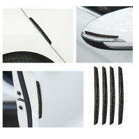 4x Anti-collision Trim Carbon Fiber Car Door Edge Guard Strip Protector Bumper