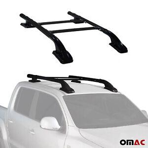 Fits Nissan Frontier 2005-2021 Top Roof Rack Side Rails Bar Cross Bar Alu. Black