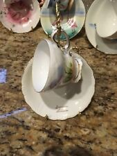 Flamingo Porcelain White Tea/Coffee Cup and Saucer Set